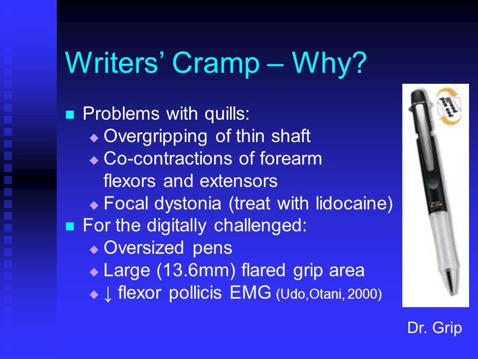 Writers' Cramp – Why.