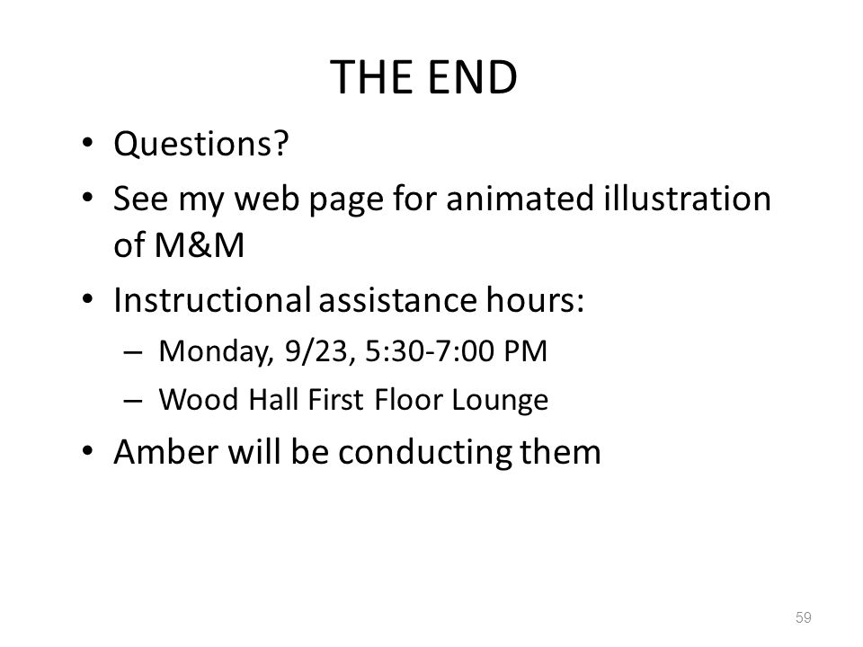 THE END Questions.
