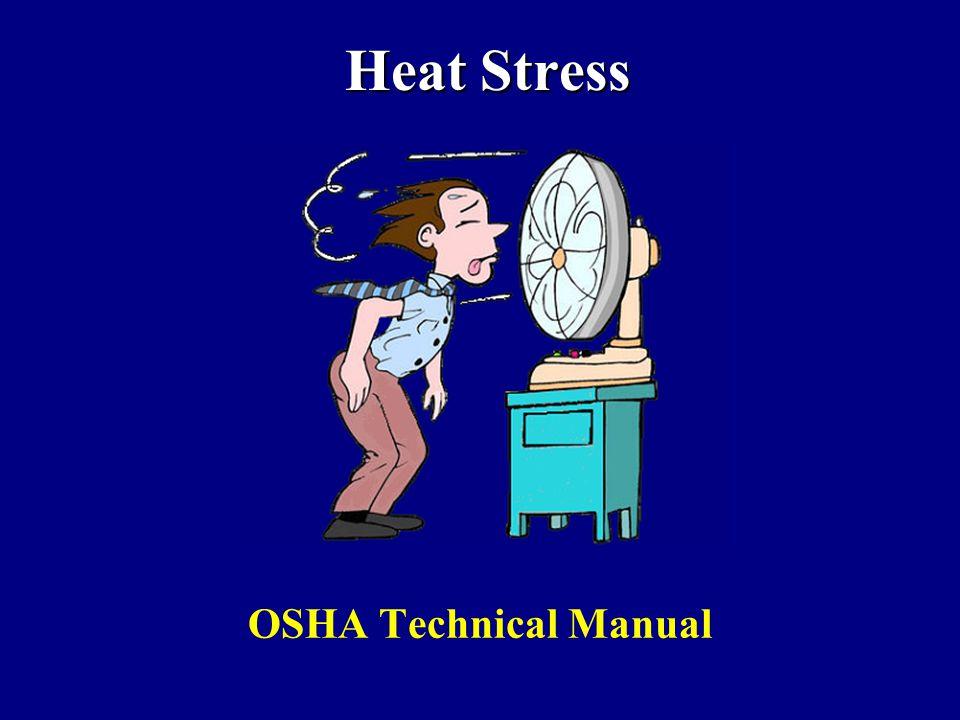 Heat Stress OSHA Technical Manual