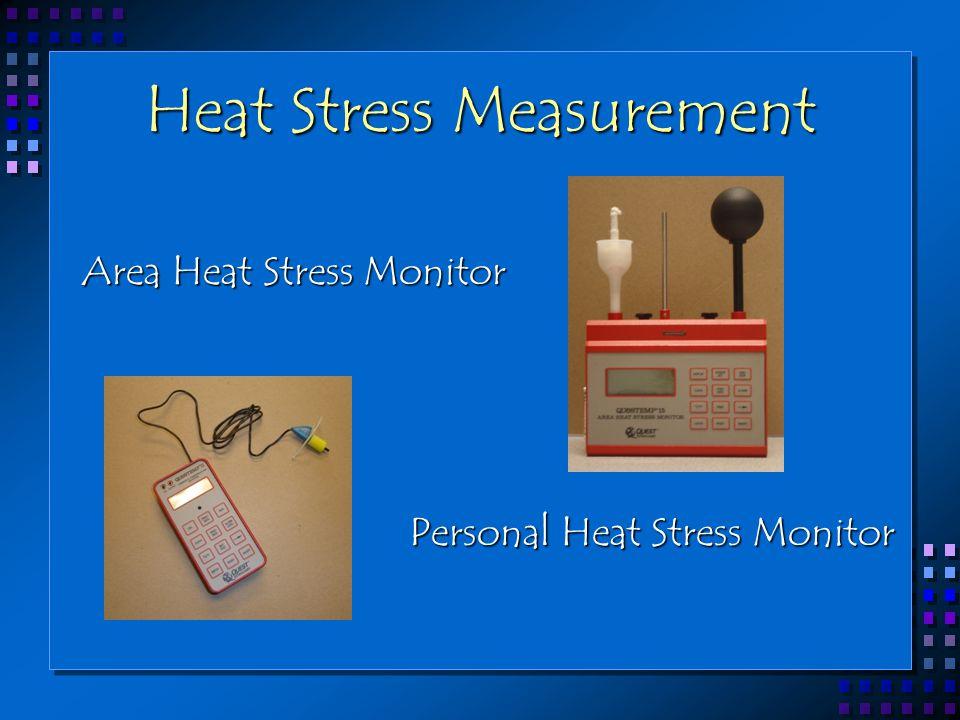 Heat Stress Measurement Area Heat Stress Monitor Personal Heat Stress Monitor