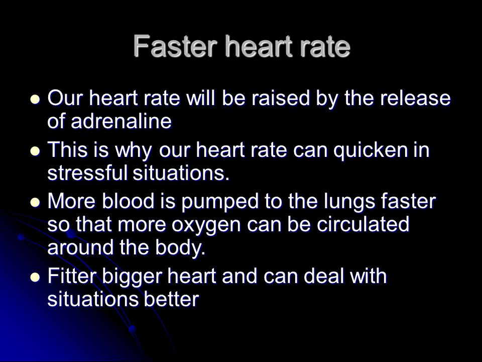 Cardiovascular adaptations to training (heart) Cardiac hypertrophy size of heart increases.