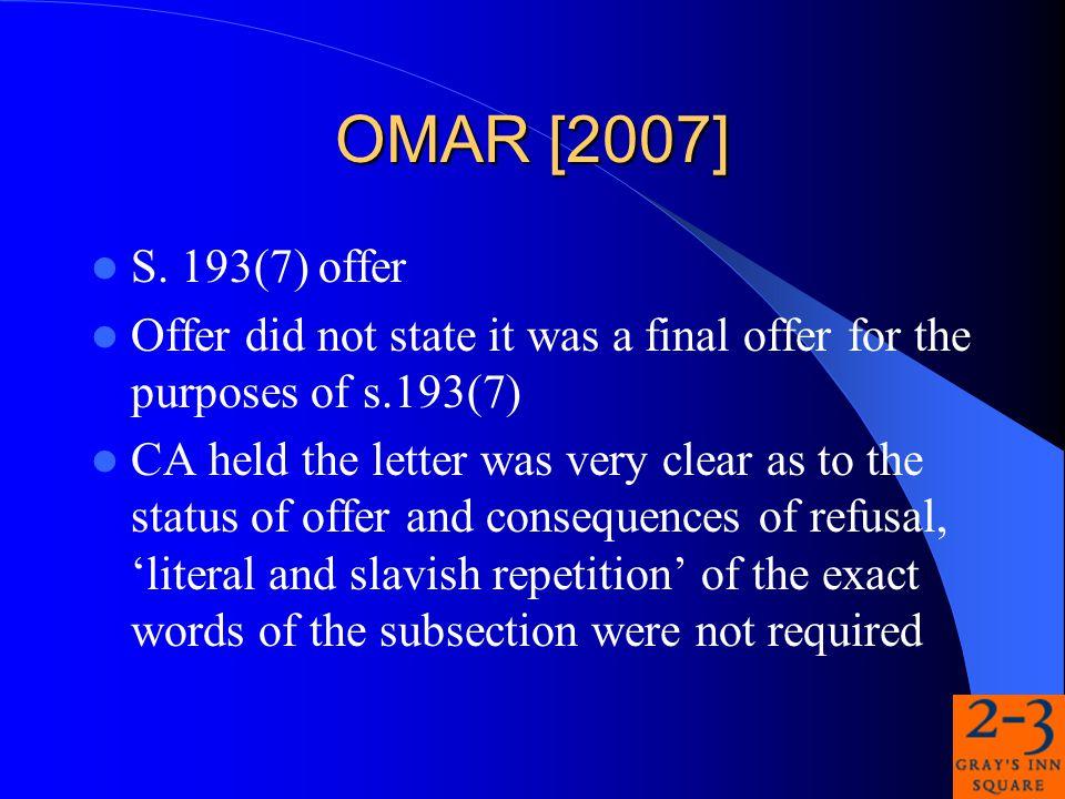 OMAR [2007] S.