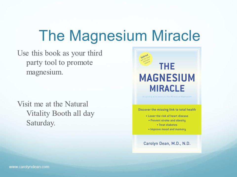 Magnesium deficiency conditions 3.