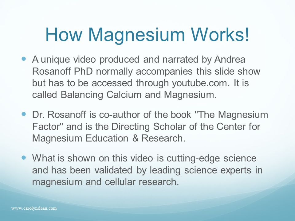 Magnesium Requirements Amount of Magnesium in the diet then and now 500 mg of magnesium in 1900 150 mg of magnesium in 2008 RDA is 350-400 mg.