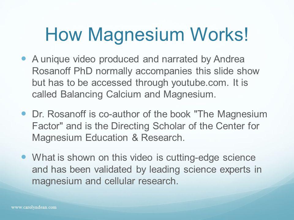 Magnesium deficiency conditions 5.