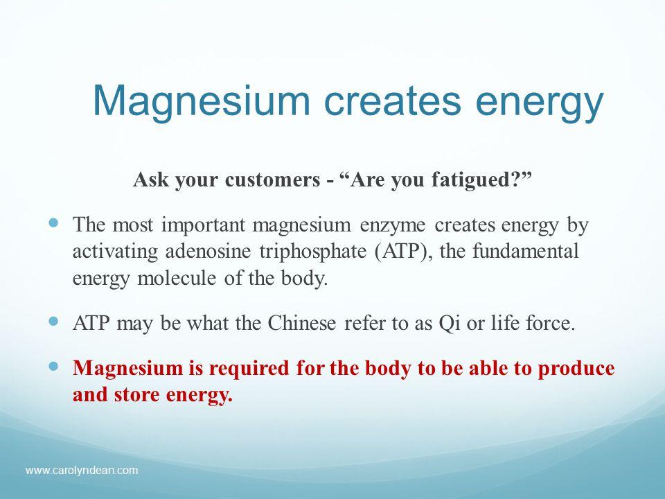 Magnesium deficiency conditions 6.