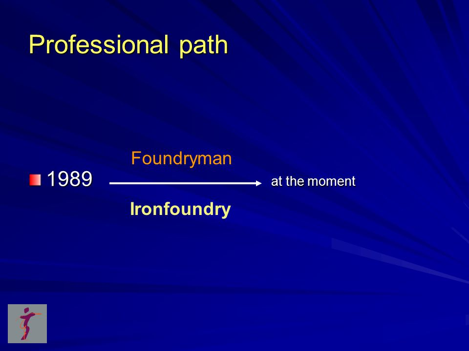 Professional path 1989 at the moment Foundryman Ironfoundry