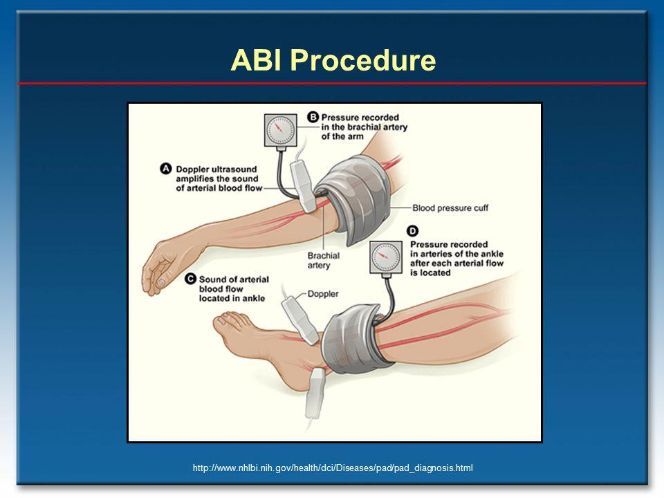 http://www.nhlbi.nih.gov/health/dci/Diseases/pad/pad_diagnosis.html ABI Procedure
