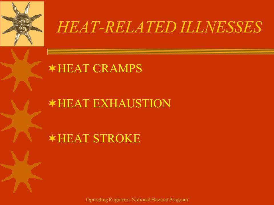 Operating Engineers National Hazmat Program HEAT-RELATED ILLNESSES  HEAT CRAMPS  HEAT EXHAUSTION  HEAT STROKE