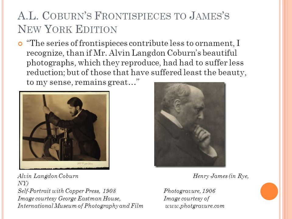 J AMES ' S S TRUGGLE WITH P ICTURE - B OOKS : A C OMPETITIVE P ROCESS …The essence of any representational work is of course to bristle with immediate images; and I, for one, should have looked much askance at the proposal…to graft or 'grow', at whatever point, a picture by another hand on my own picture – this being always, to my sense, a lawless incident (Preface to The Golden Bowl, 331-332 in the Blakmur edition) See pages 331-333