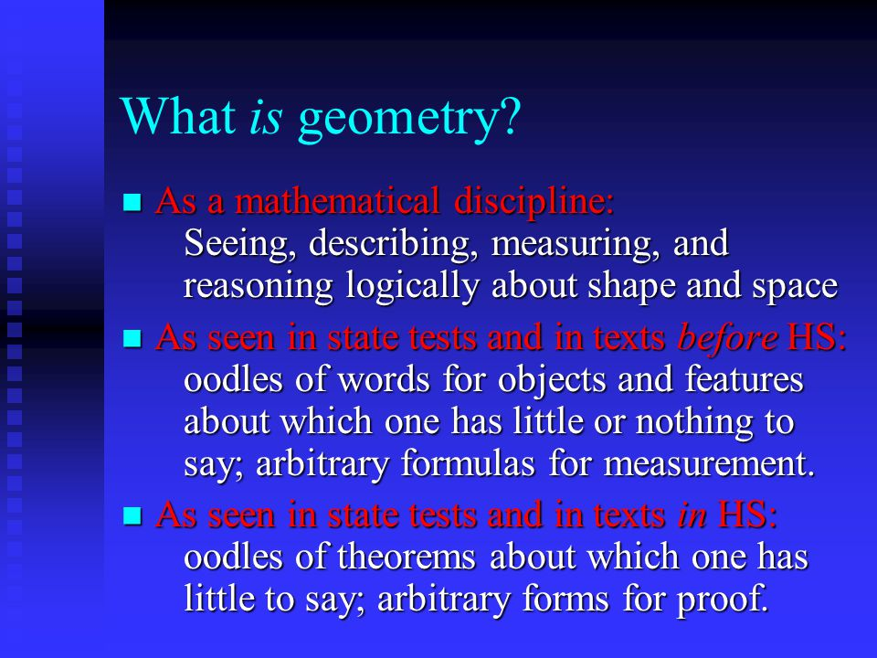 What is geometry.