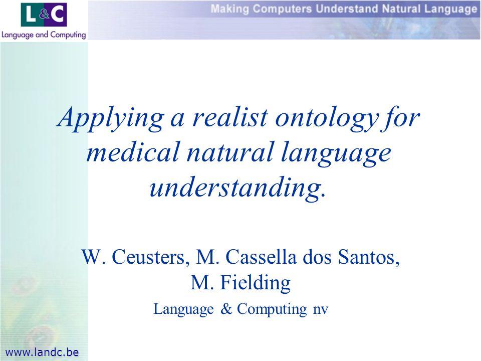 www.landc.be W. Ceusters, M. Cassella dos Santos, M.