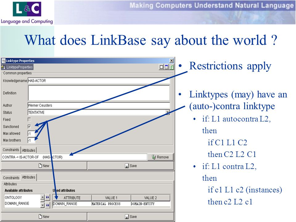 www.landc.be What does LinkBase say about the world .