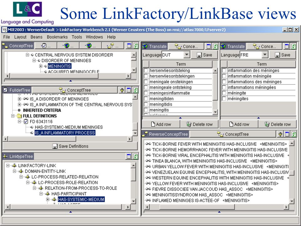 www.landc.be Some LinkFactory/LinkBase views