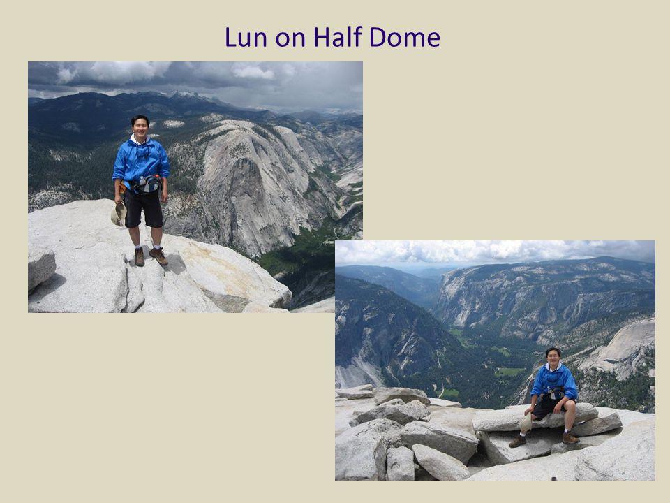 Lun on Half Dome