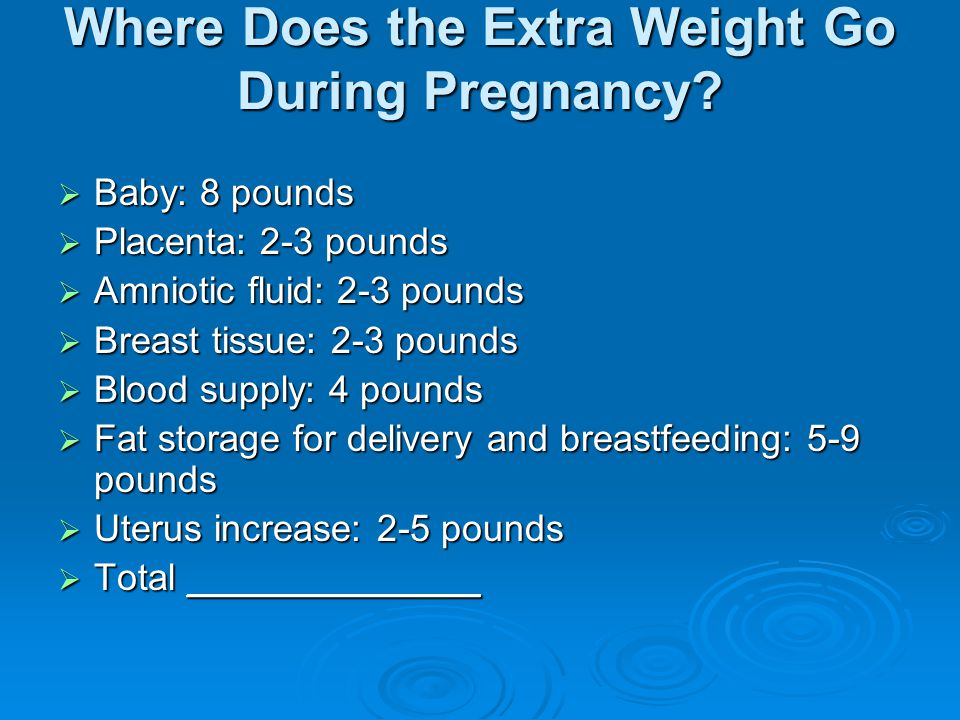 Where Does the Extra Weight Go During Pregnancy.