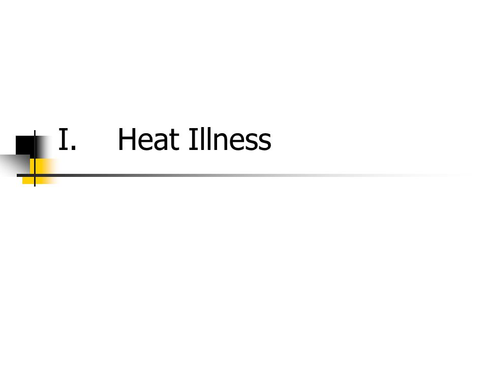 I.Heat Illness