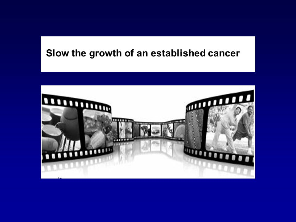 Slow the growth of an established cancer