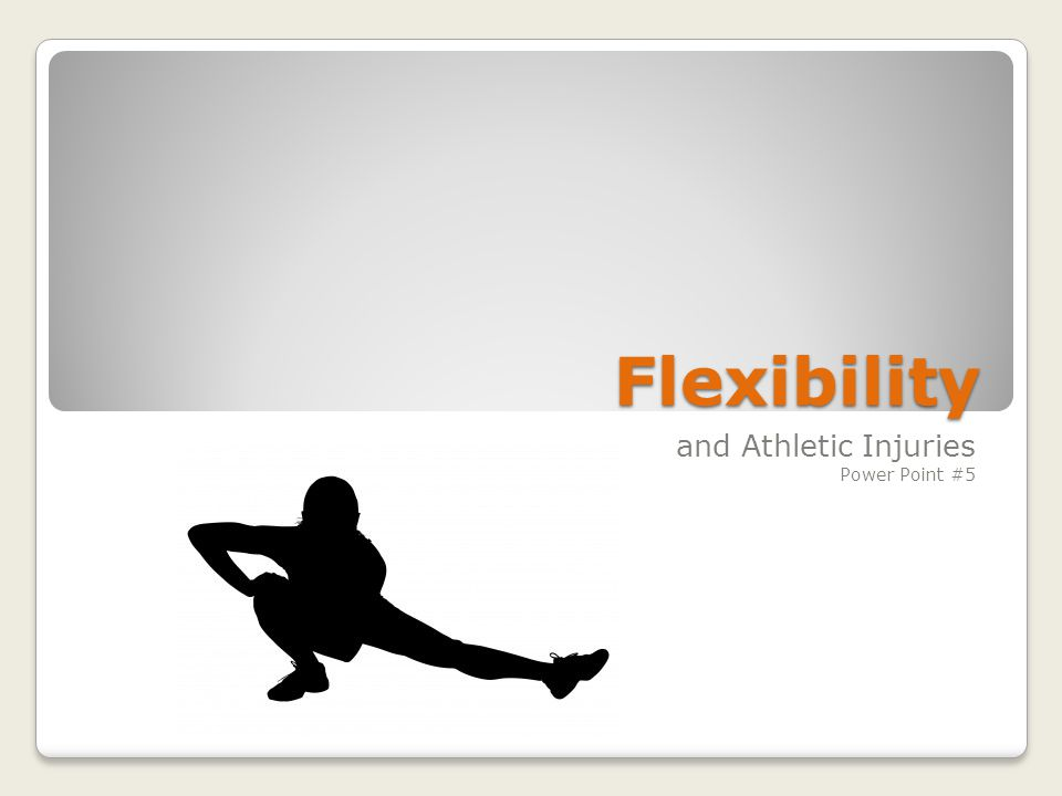 Flexibility is… The ability of a joint to move through its full range of motion.