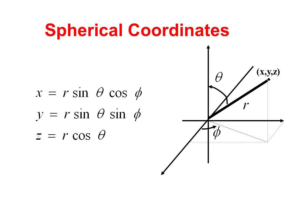 Spherical Coordinates (x,y,z)