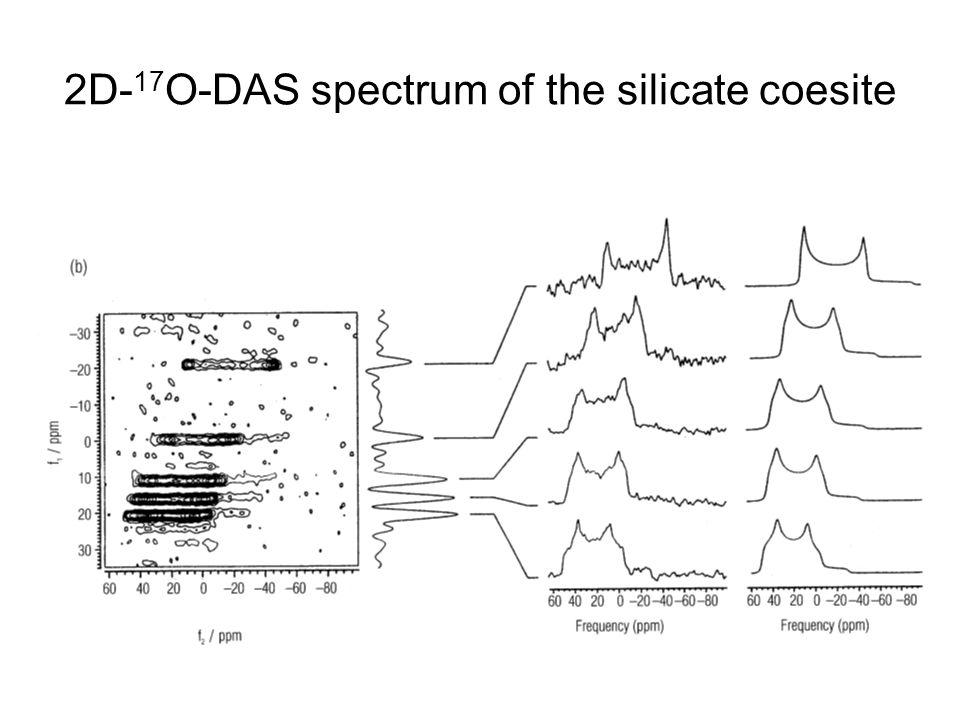 2D- 17 O-DAS spectrum of the silicate coesite