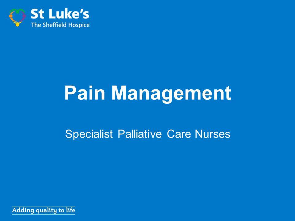 Pain Management Specialist Palliative Care Nurses