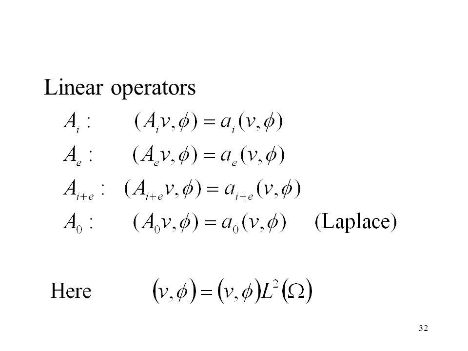 32 Linear operators