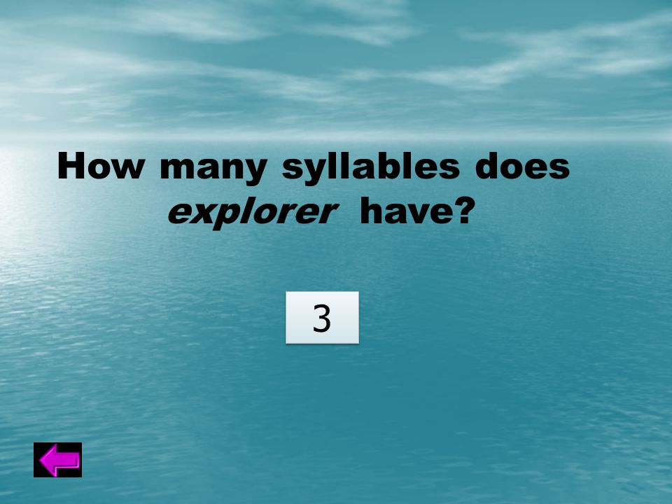 How many syllables does explorer have 3 3