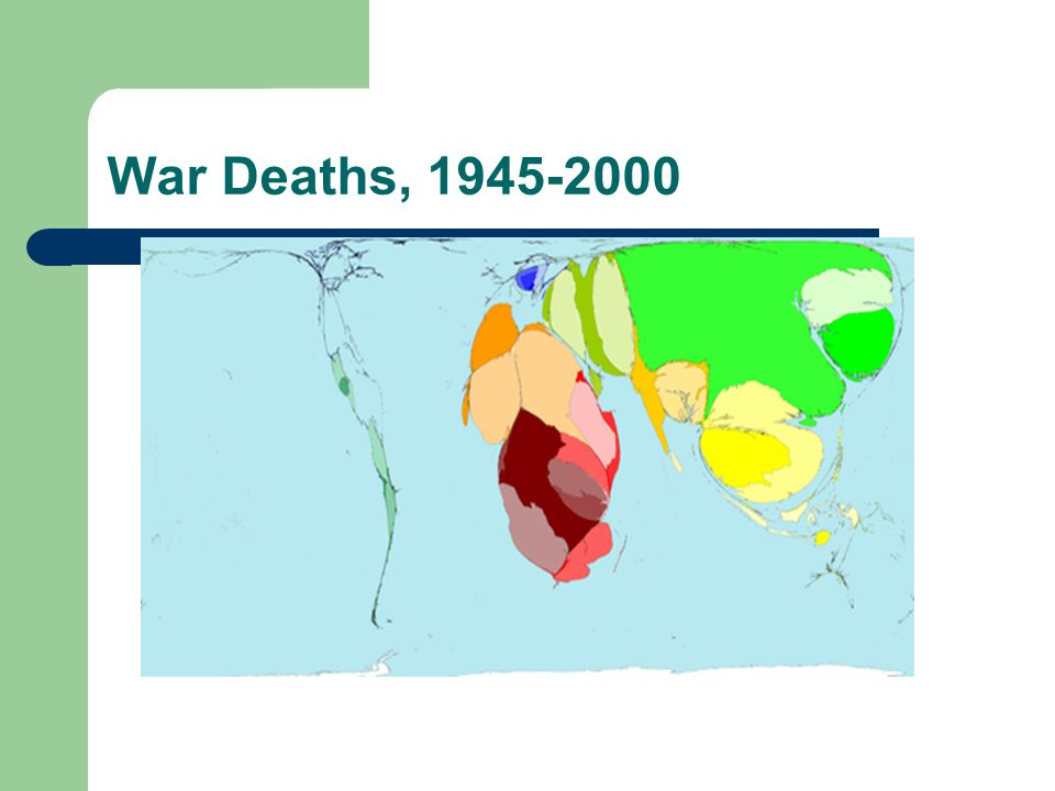 Consequences of War Deaths, injuries, psychological sequelae Collapse of health care system affecting those with acute and chronic illnesses Famine