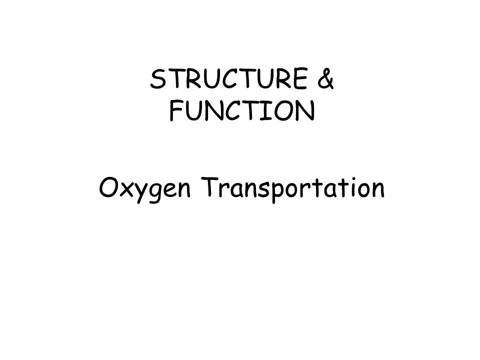 STRUCTURE & FUNCTION Oxygen Transportation