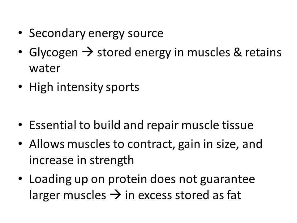 Carbohydrates Most accessible energy source for the body 1 gram of carbs = 4 calories of energy 55-60% of daily caloric intake