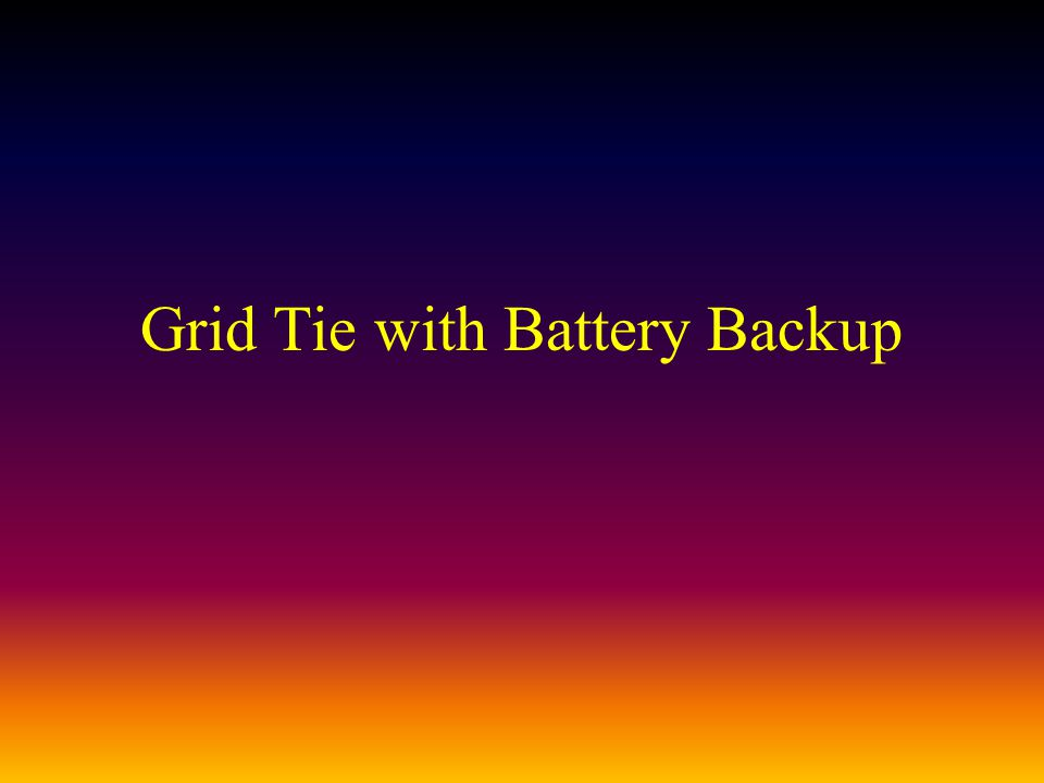 Grid Tie with Battery Backup