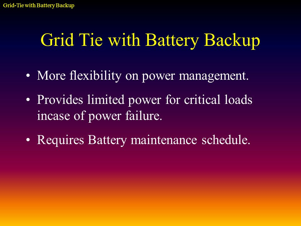 More flexibility on power management.