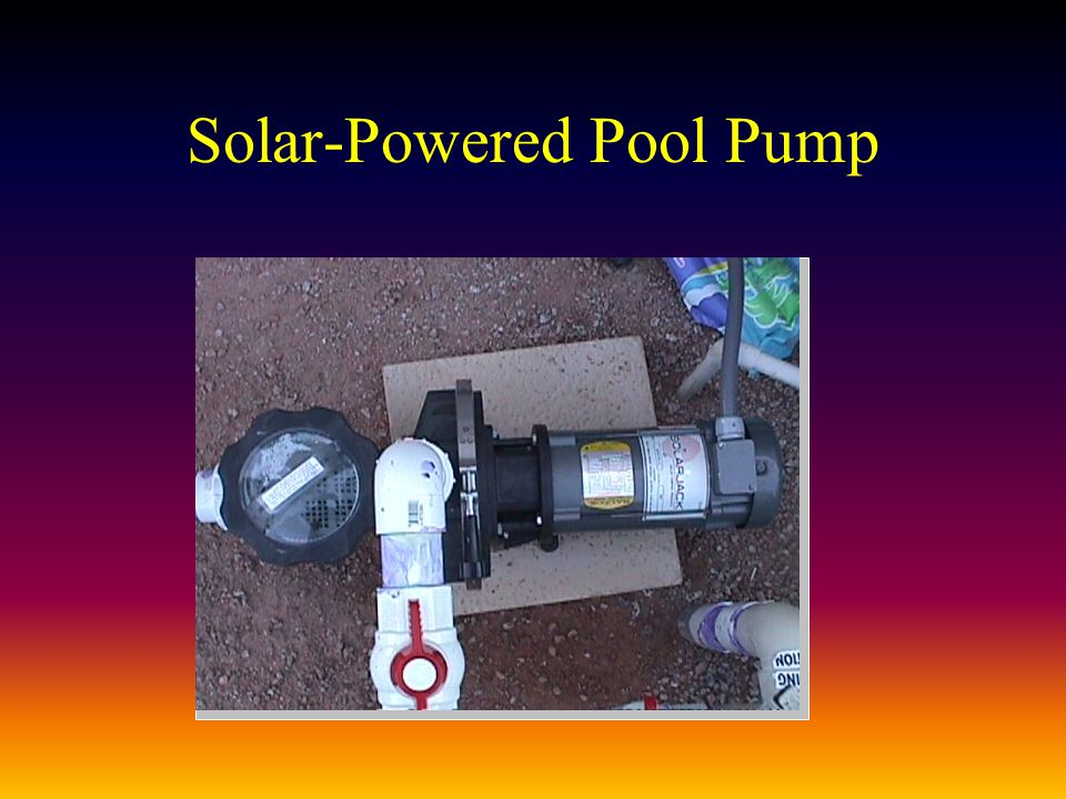 Solar-Powered Pool Pump