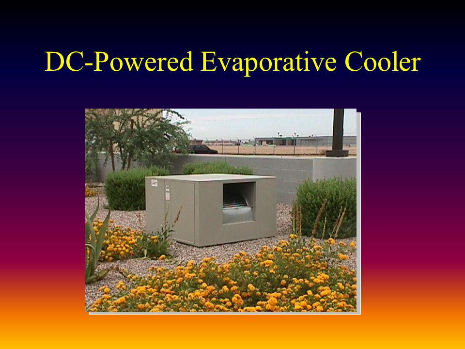DC-Powered Evaporative Cooler