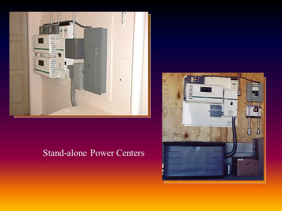 Stand-alone Power Centers