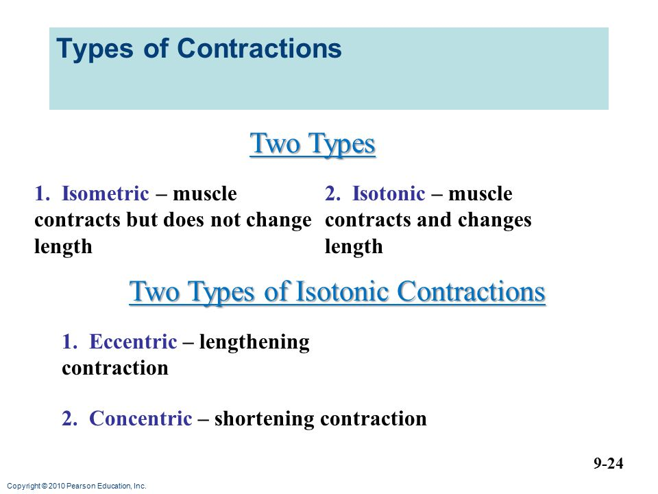Copyright © 2010 Pearson Education, Inc.Types of Contractions 9-24 2.