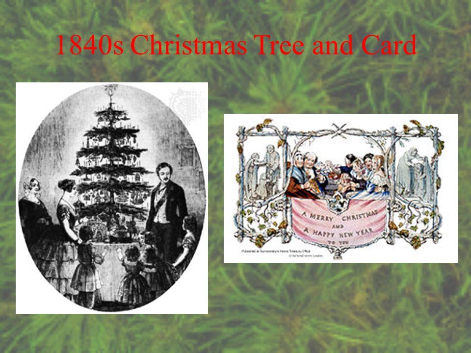 1840s Christmas Tree and Card