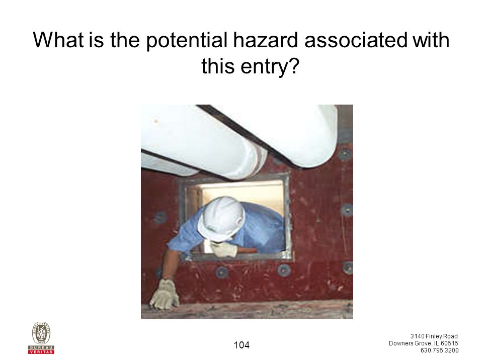 3140 Finley Road Downers Grove, IL 60515 630.795.3200 103 What airborne hazard is present and how could it be reduced