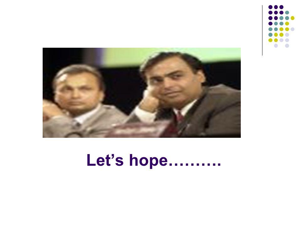 Let's hope……….