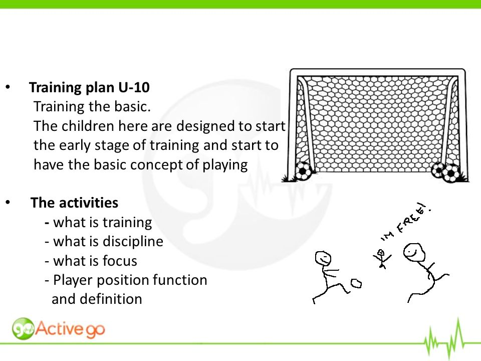 Training plan U-10 Training the basic.