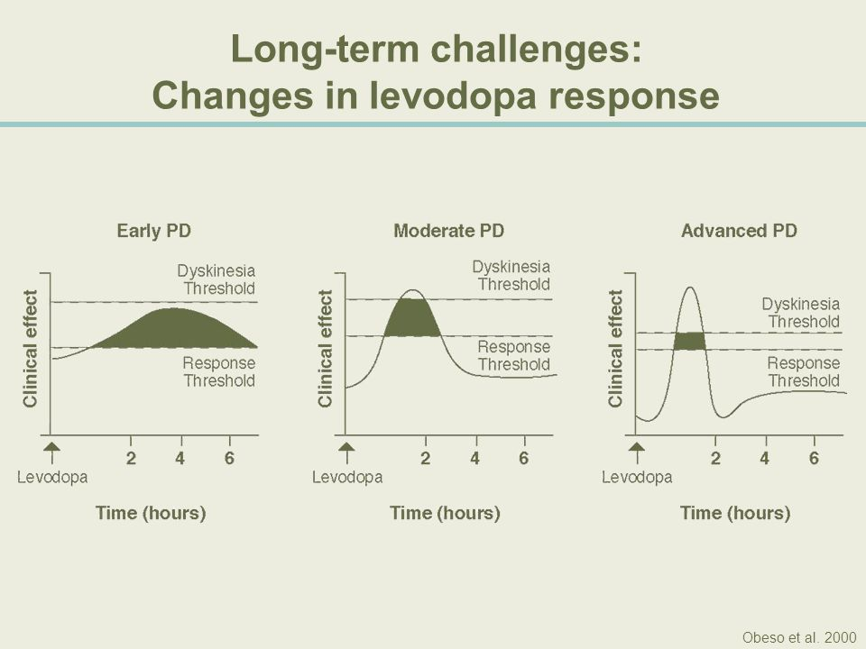 Adjunct dopamine agonist therapy does not address the underlying problem of levodopa pulsatility In a pharmacokinetic study of 10 patients receiving levodopa and adjunct bromocriptine: Levodopa Dose Regardless of the effect of concomitant bromocriptine medication, fluctuations in motor performance are related only to levodopa plasma concentration.