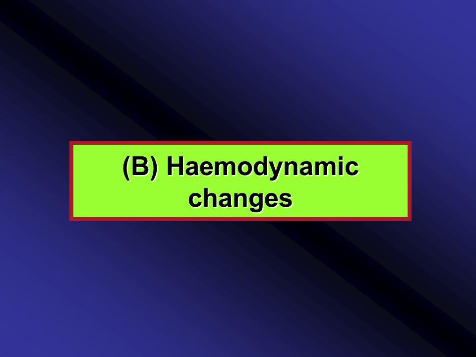 (B) Haemodynamic changes