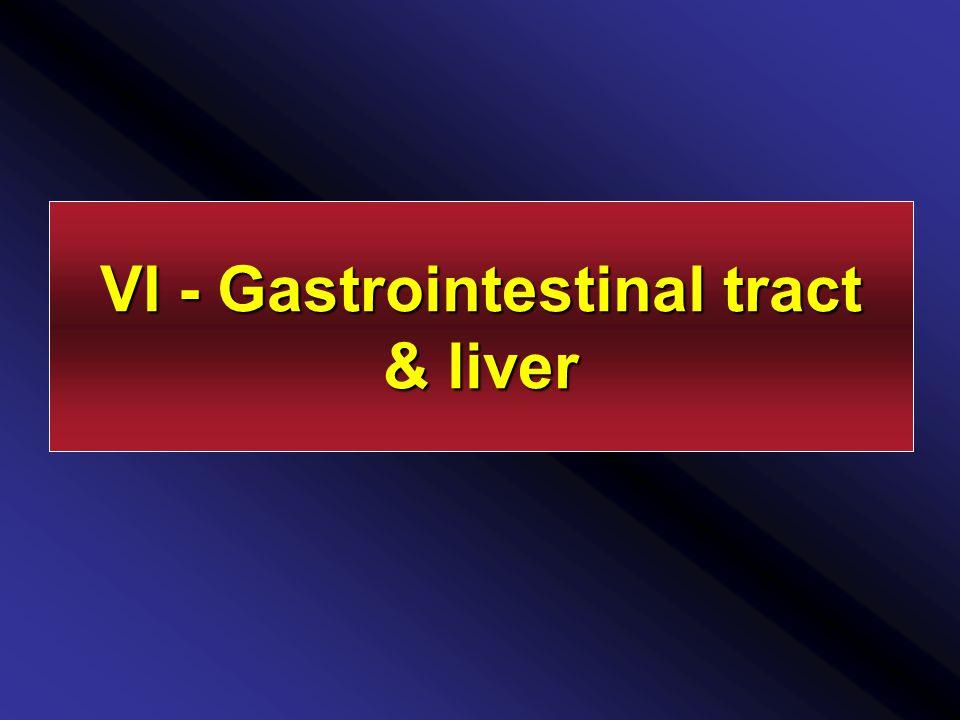 VI - Gastrointestinal tract & liver