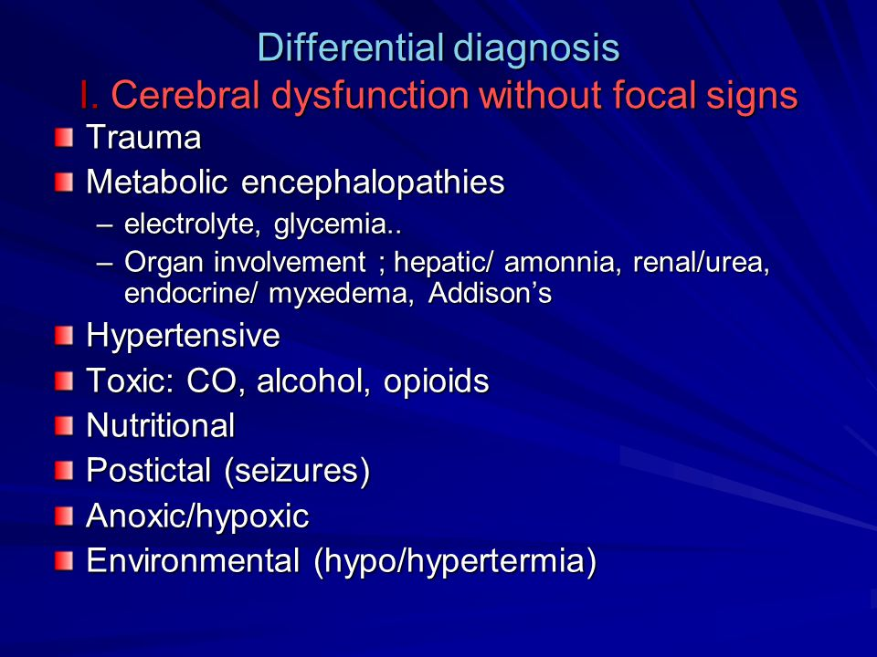 Differential diagnosis I.