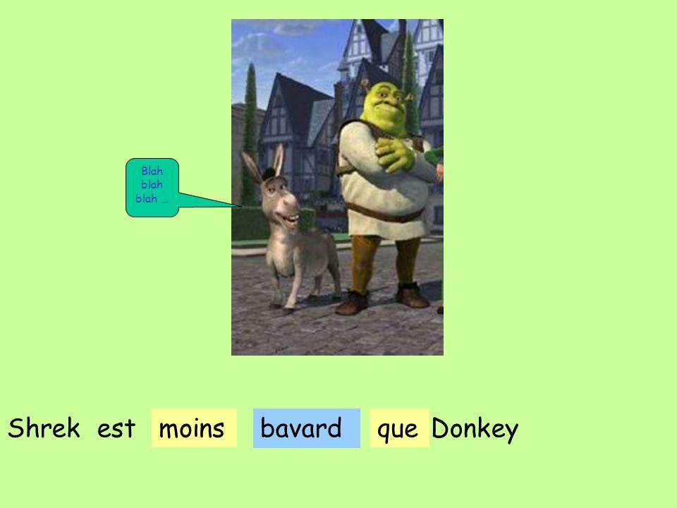 bavard Shrek estmoinsqueDonkey Blah blah blah …