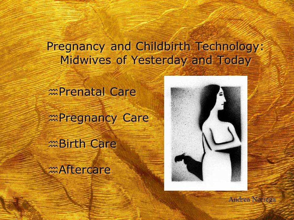 Pregnancy and Childbirth Technology: Midwives of Yesterday and Today h Prenatal Care h Pregnancy Care h Birth Care h Aftercare h Prenatal Care h Pregn