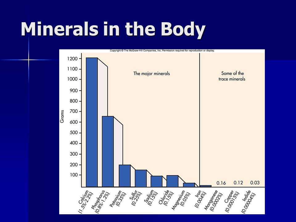 Minerals in the Body