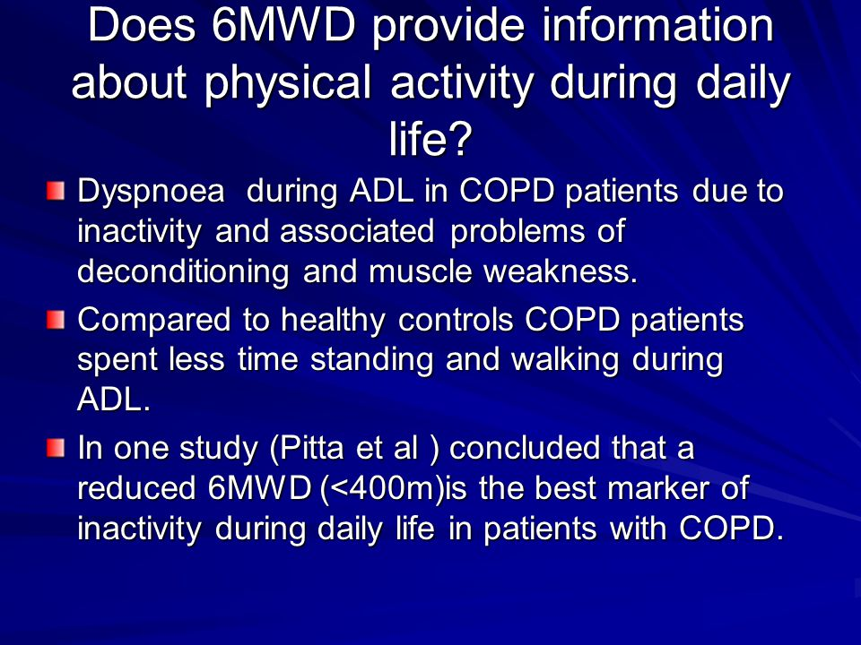 Is 6MWD associated with survival.Stronger predictor of survival than FEV 1.
