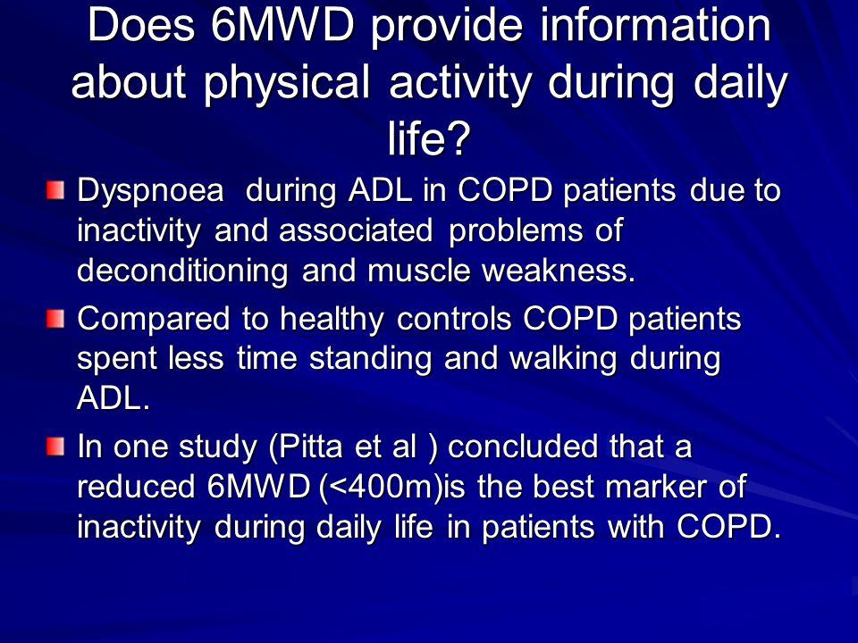 Stop the test: - chest pain - mantal confusion - light headedness -intolerable dyspnoea - leg cramp -SaO 2 <85%